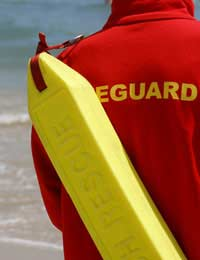 Lifeguards Children Flags Swimmers